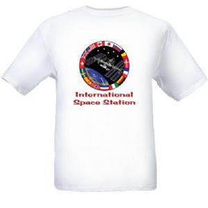 International Space Station (ISS) Emblem T-Shirt Size 'S'